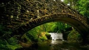 wooden bridge hd wallpaper