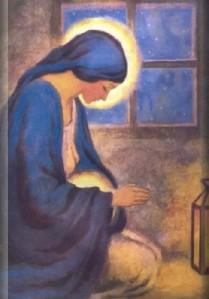 pregnant Mary praying