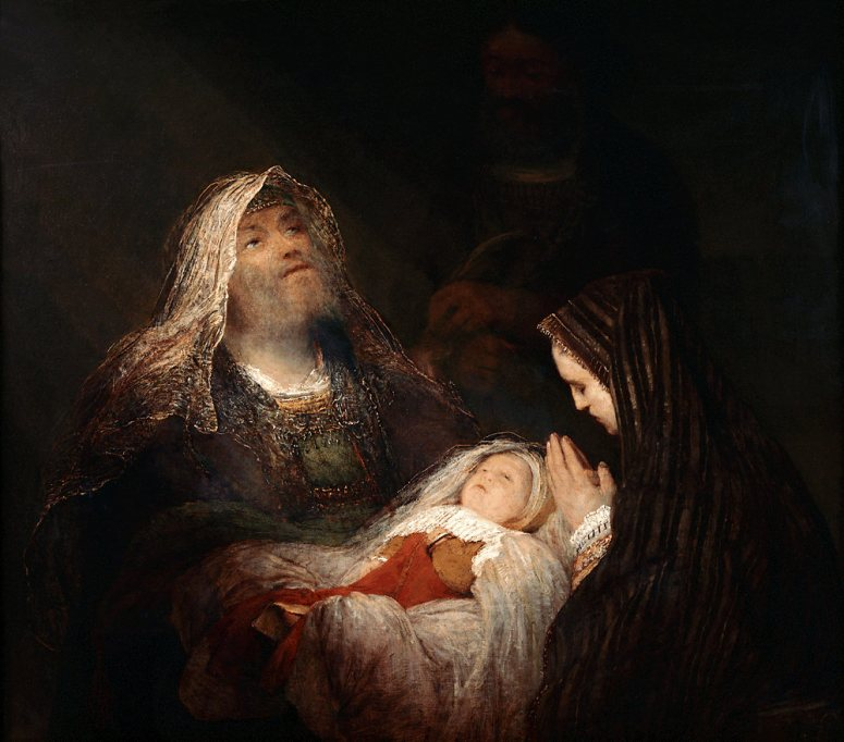 Zechariah and Elizabeth with John